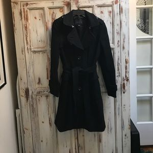 Black wool banana republic coat